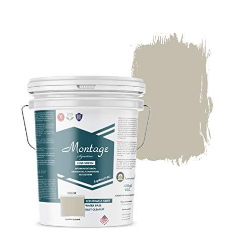 Montage Signature Interior/Exterior Eco-Friendly Paint, Patina, Low Sheen, 5 Gallon