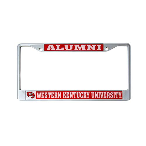 Western Kentucky University WKU Hilltoppers Toppers NCAA Metal License Plate Frame for Front or Back of Car Officially Licensed (Alumni)
