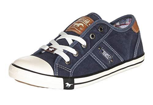 MUSTANG Damen 1099-302 Sneaker, Blau (Dunkelblau 800), 39 EU