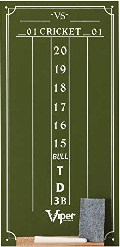 Viper Chalk Scoreboard: Cricket and 01 Dart Games, Green, 15.5' H x 8' W