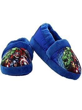 Marvel Avengers Superhero Boys Toddler Plush Aline Slippers  11-12 M US Little Kid Blue