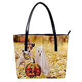 Disfraces de Halloween con calabazas Bolsos de mujer, cuero suave asa bolsa bolsa bolsa bolsa bolsa bolsa para trabajo viaje grande mensajero