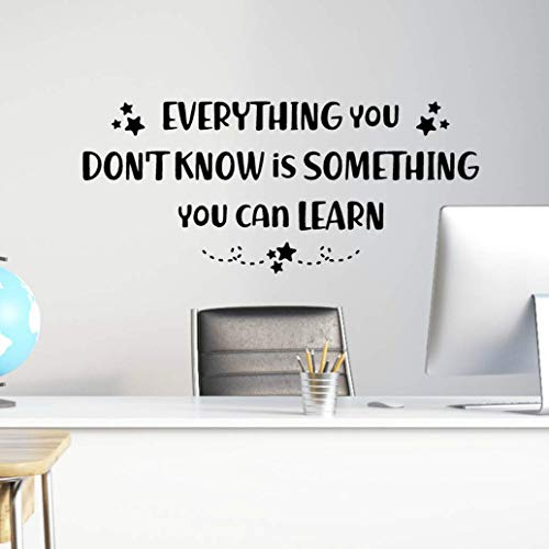 Everything You Don't Know is Something You Can Learn Wall Decal, Teacher Classroom Decor, 23