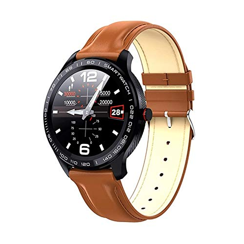 YDK Smart Watch Men IP68 A Prueba de Agua Bluetooth Music Control Flashlight SmartWatch para iOS Android,E