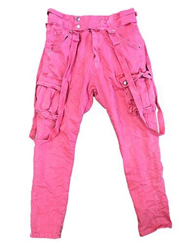 ITAIMASKA Damen Cargohose Militär HosenWorktrousers Freizeithose HS3212 (XL, Pink)