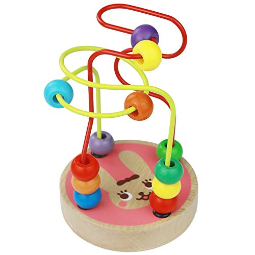 umu Bead Maze Toy for Toddlers Wooden Colorful Roller Coaster Game - Educational Toy Abacus for Kids Math, Best Gift for 3, 4 and 5 Year Old Boys and Girls