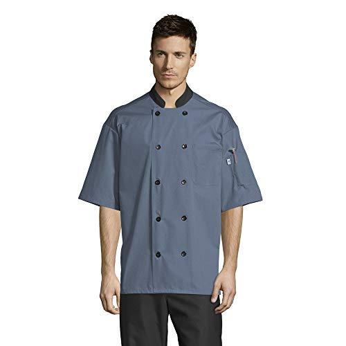 Uncommon Threads Damen 0494-6209 Button Down Hemd, Stahl, 5X-Groß