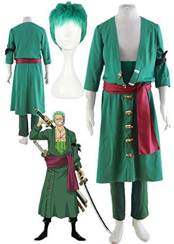 YOUYI One Piece Roronoa Zoro Halloween Cosplay Costume Party Halloween (Male L) Green