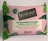 Femfresh Intimate Hygiene 25 Feminine Freshness Biodegradable Wipes x 6 packs