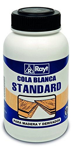 Rayt 429-09 Cola blanca standard múltiples usos: Madera, papel, cartón, cerámica y todo tipo de materiales porosos, 1kg