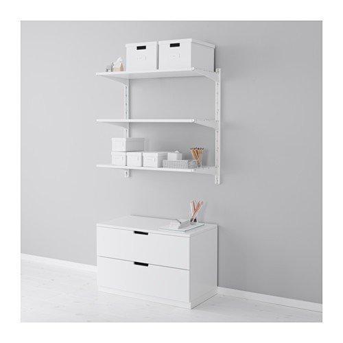 Ikea ALGOT Wandschiene/Böden Aufbewahrungssystem; in weiß; (85x40x84cm)