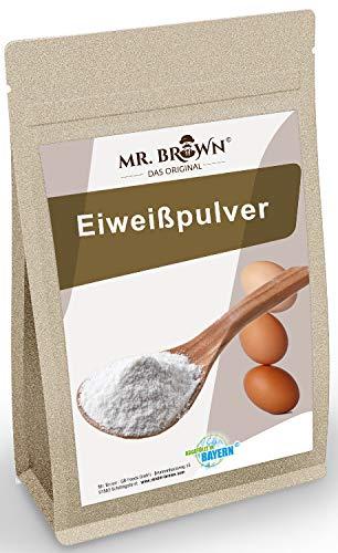 Mr. Brown Eiklarpulver 500g | Pasteurisiertes Eiklar Pulver | zum Kochen & Backen | neutraler Geschmack | abgefüllt in Bayern
