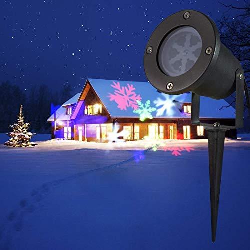 QINGJIA Lighting Decor, Outdoor Lighting Light Life Waterproof Snowflake Pattern Creative LED Projecting Lamp Outdoor Light for Yard/Garden Working Lamp