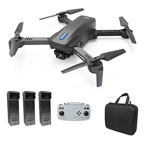 H14 GPS Drone E58 con Cámara Dual 4K HD Drone Plegable 2 4G/5G WiFi FPV 75 Grados Esc Quadcopter 3D Flip Modo sin Cabeza Control de Velocidad 30 Minutos de Vuelo