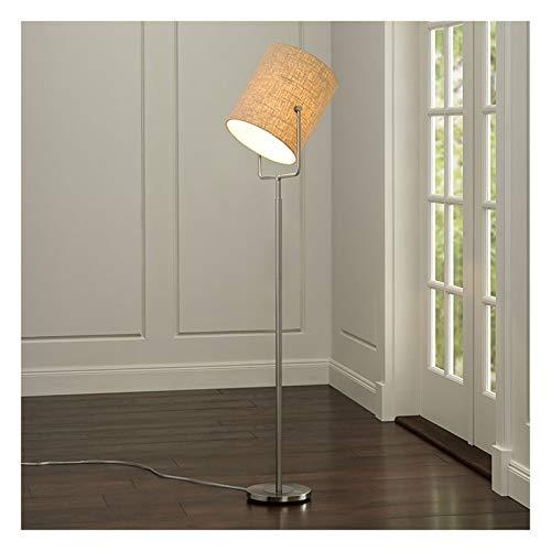 Lámpara LED pie, Tela Lampshade Simple Dormitorio Moderno Sala de Estar Sala de Estudio Vertical pie Nivel de energía de la luz de Lectura de protecció