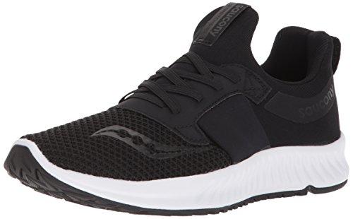 Saucony Women's Stretch N Go Breeze Running Shoe, Black, 12 Medium US