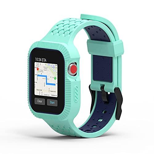 CHENPENG Correa Compatible con Apple Watch 3/4/5/6 / SE Un Cuerpo Correa de Repuesto de Silicona Suave Correa Deportiva de Tejido Ligero,2,42mm