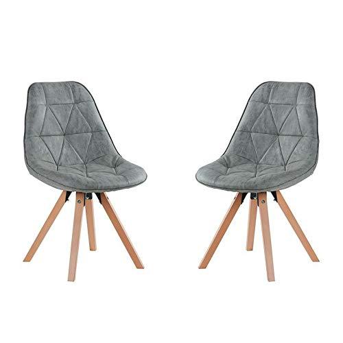 Casita Esszimmerstühle aus Schaumstoff, Hellgrau, 2 Stück