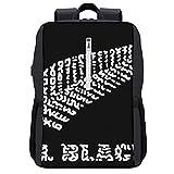 LUDOAN Sac à dos de voyage,L'équipe de rugby des All Blacks de Nouvelle-Zélande,sac d'ordinateur mince et durable antivol d'affaires avec port de charge USB
