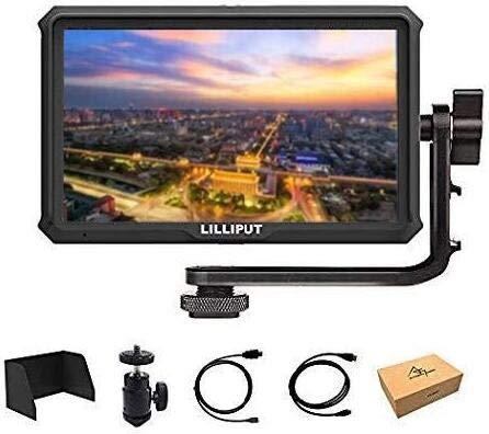 Lilliput A5 5 inch 1920x1080 HD 441ppi IPS DSLR Screen Camera Field Monitor 4K HDMI Input Output Compatible with Canon Nikon A7 A7S III A9 Panasonic GH5 GH5s Zhiyun Crane 2 M TILTA G2X DJI Ronin-S