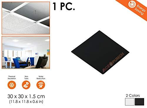 Acepunch SCHWARZ 30 x 30 x 1 cm Glasfaser Akustisch Deckenplatten Abgehängte Decke AP1174
