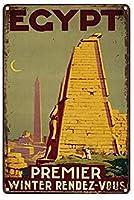 新しいエジプトのプレミア冬のランデブーヴィンテージメタルティンサイン男性の洞窟男性女性のための、バー、トイレ、レストラン、カフェパブ、12x8インチの壁の装飾