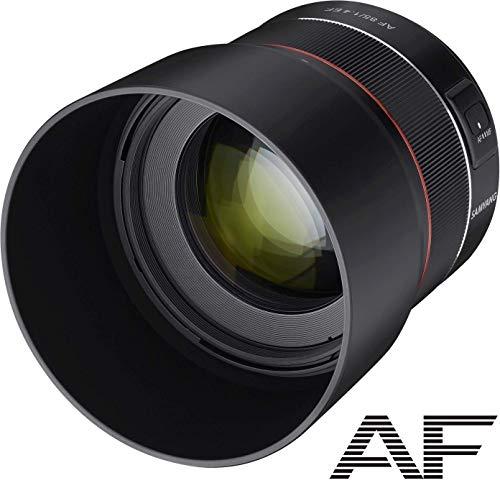 Samyang SA7073 - Objetivo AF para cámara Nikon F (85 mm, F1.4 F, 85 mm, formato completo, sin espejo, réflex, formato completo y APS-C, con montura Nikon F, rosca de filtro de 77 mm) negro