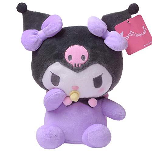 Dibujos animados Kuromi My Melody Baby Kawali Dog Muñeca de peluche suave Linda almohada Decoración para el hogar Regalo Unisex Regalo Niños Juguetes 20 cm