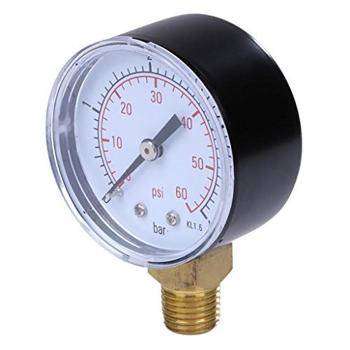 Pool Spa Filter Water Pressure Gauge 0-60 Psi Seitliche Befestigung 1/4 ''npt Rohrgewinde