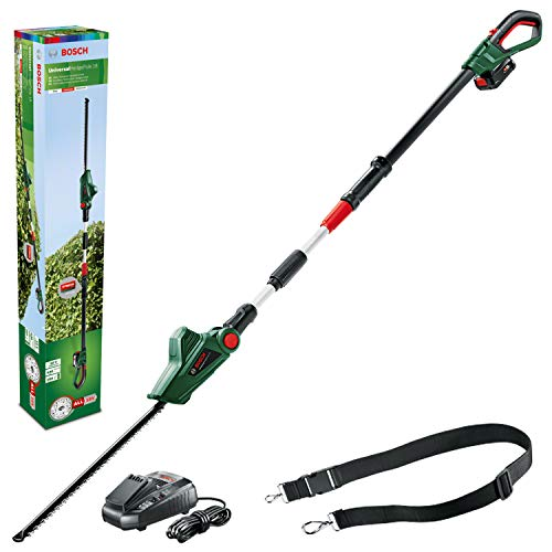 Bosch Cordless Telescopic Hedge Trimmer UniversalHedgePole 18 (1 Battery, 18 Volt System in Cardboard Box)
