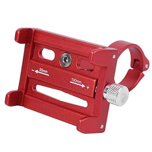 Cosiki Soporte para GPS Duradero de Color Rojo/Negro/Titanio para Motocicleta, Soporte para teléfono móvil fácil de Usar con Sujetadores de Cuatro Garras Estable y Firme para(Red)