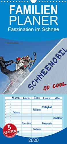 Schneemobil - so cool - Familienplaner hoch (Wandkalender 2020, 21 cm x 45 cm, hoch)