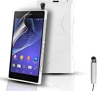 Telefonskydd – S-Line silikongel fodral fodral fodral för Sony Xperia Z2 D6503 och skärmskydd – vit