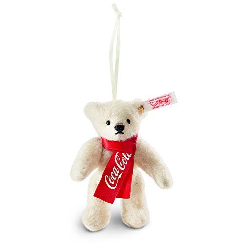 Steiff 355318 Coca-Cola Teddyb.10 Weiss ORN