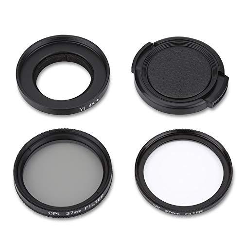 FECAMOS Lente Protectora Filtro de Lente UV 2 filtros A Paquete, para cámara Deportiva de acción YI 4K