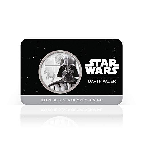 IMPACTO COLECCIONABLES Offizielle Star Wars-Gedenkmünze - Reines Silber 32mm