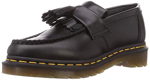 Dr.Martens Mens Adrian Black Leather Shoes 43 EU