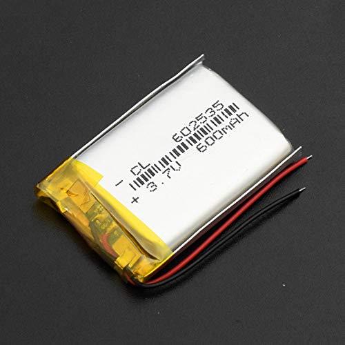hsvgjsfa 3.7v 600mah 602535 Lipo Batería De Iones De Litio De PolíMero De Litio, Recargable para El Altavoz Bluetooth del TacóGrafo Dvr del Coche 602535600mAh1pc