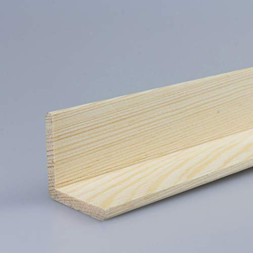 Winkelleiste Schutzwinkel Winkelprofil Tapeten-Eckleiste Abschlussleiste Abdeckleiste aus Kiefer-Massivholz 2100 x 36 x 36 mm