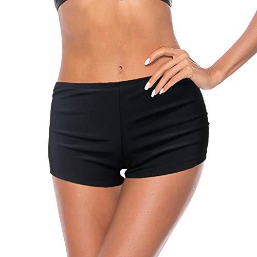 OverDose Damen Badeshorts Frauen UV-Schutz Schwimmen Bikini Bottoms Wasser Schnell Trocknend Athletic Sports Stretch Strand Badeshorts Board Shorts