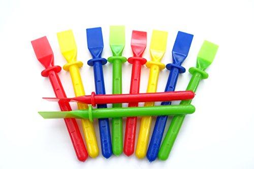 a2bsales 10 x Glue Spreaders - Plastic Kids Pva Paste Adhesive Spatula - Craft Accessory
