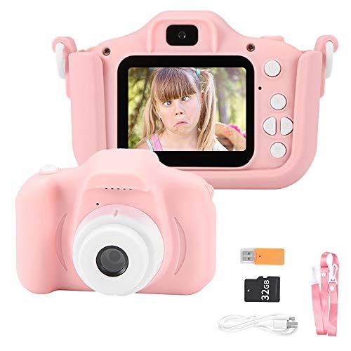 Cámara para Niños Cámara Digitale Selfie para Niños, HD 1200 MP/1080P Doble Objetivo, Ideales para niños de 3 a 12 años, Regalos Juguete para Navidad, Rosado (Rosa)