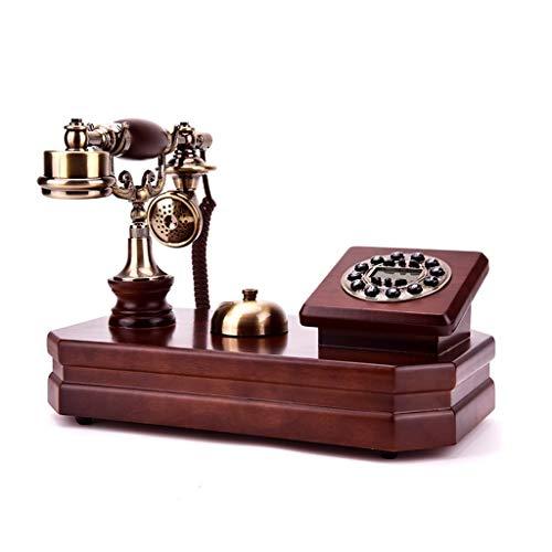 Zhangmeiren Festnetzanschluss des Europäischen Retro- Plattenspieler-Hauptfestnetzbüros des Telefonantiken Alten Telefons des Festen Holzes (Color : Double Bell)