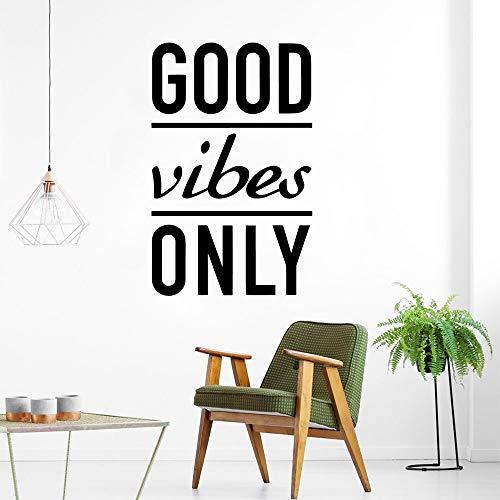 JXAA Creative Good Vibes Only Stickers muraux Accessoires de décoration intérieure Autocollants en Vinyle Décoration de la Maison Papier Peint 30x47cm