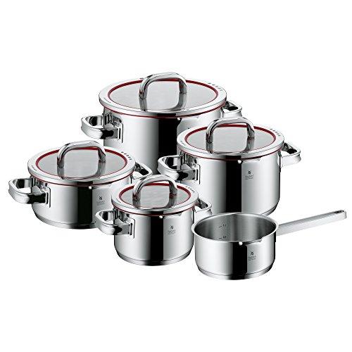 WMF Function 4 - Batería de Cocina, 5 Piezas Acero Inoxidable, Apta para Todo Tipo de Cocinas Incluso Inducción