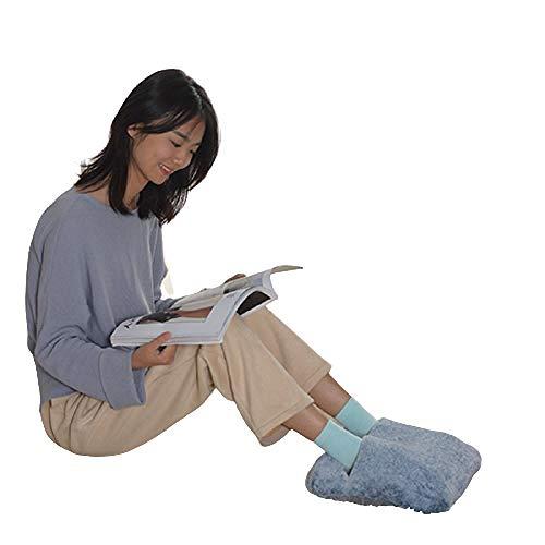 Calentador de pies eléctrico con enchufe USB, calentador de pies eléctrico multifunción, calentador de pies interior de invierno, calentador de pies con control de temperatura USB-azul_29X33CM