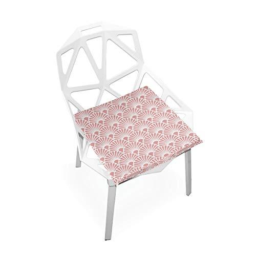 Cojín de espuma viscoelástica para sillas de cocina, suave, lavable, antipolvo, silla de comedor, cojín de 40,6 x 40,6 cm (patrón de ventilador) 2030300