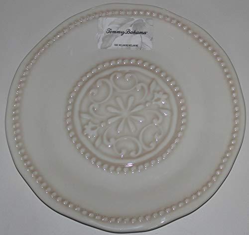 Tommy Bahama Melamine Rustic Beige Decorative Dinner Plates - Set of 4