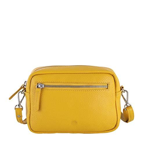Sattlers & Co. Umhängetasche The Spanish Nabou | Umhängetasche für Damen | Damen Umhängetasche aus echtem Leder (gelb)