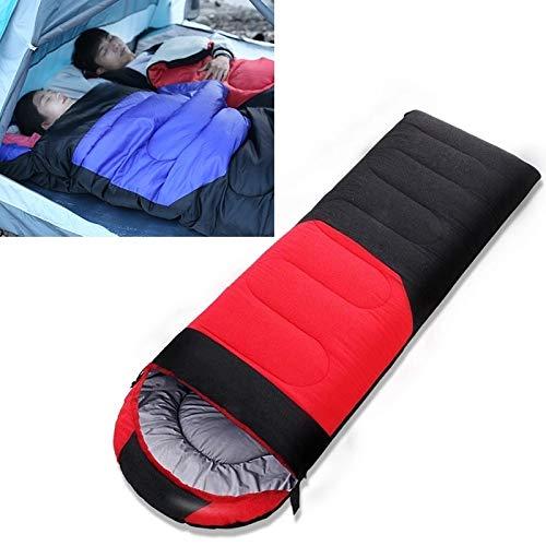Generic Brands Sac de Couchage IBHT Camping en Plein air Sac de Couchage Splicing Coton intérieur lit de Couchage, Taille: 210x80cm, Poids: 1,8 kg (Bleu) Nouveau (Color : Red)